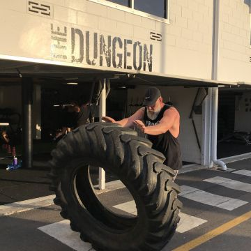 tire pushing gym